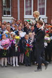 September 1, kunskapsdag i rysk skola Dag av kunskap första skola för dag Royaltyfri Foto