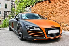 September 10, Kyiv. Audi R8 ABT Quattro in the city. R8 ABT Quattro in the city stock photo