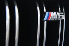 September 26, 2016, Kyiv. Logo BMW M6. September 26, 2016, Logo BMW M6 stock photography