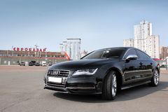 September 18, 2012, Kyiv. Ukraine. Audi S7 in the city. Audi S7 in the city royalty free stock photo