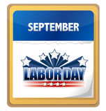 September labor day calendar Royalty Free Stock Photo