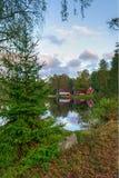 September-landschap in Zuidelijk Zweden Royalty-vrije Stock Afbeeldingen