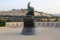 11. September lebende Erinnerungspiazza in Jerusalem, Israel Stockfotos