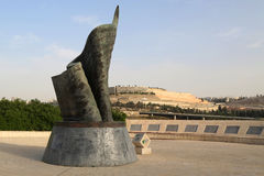 11. September lebende Erinnerungspiazza in Jerusalem, Israel Lizenzfreie Stockbilder