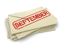 September letters (clipping path included). September letters. Image with clipping path stock illustration