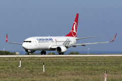 3 September 2015, Luqa, Malta: Turks 737 Royalty-vrije Stock Afbeelding