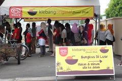 27 September 2016, Malacca, Maleisië De Schok van de Klebangkokosnoot was de heetste drank tegenwoordig in melaka en deze opslag  Royalty-vrije Stock Fotografie