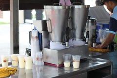 27 September 2016, Malacca, Maleisië De Schok van de Klebangkokosnoot was de heetste drank tegenwoordig in melaka en deze opslag  Stock Foto