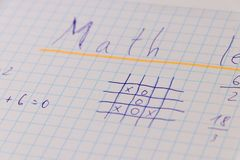 In september many child will going back to school. Math is one of basic subjects. Math lesson, school royalty free stock photos