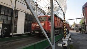 10 September, 2016, Mariupol, Ukraine, Ukrtransagro LLC. Truck driving to weighting machine to collect wheat for quality