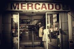 September marknad för 23 Madrid arkivfoto