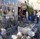 19 September 2013 - Marocko: Huvudvägen shoppar Fotografering för Bildbyråer