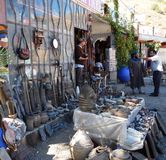 19. September 2013 - Marokko: Landstraßenshop stockbild