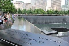 September 11 Memorial, World Trade Center. Crowds visiting the National September 11 Memorial at the Worlds Trade Center, New York City, NY Stock Image