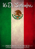 September 16 Mexican independence day spanish text Royalty Free Stock Image
