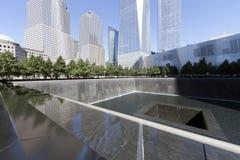 September 11 minnesmärke - New York City, USA Fotografering för Bildbyråer