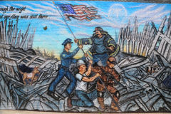 September 11 mural in Brooklyn Stock Photo