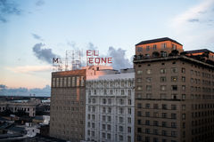 September 2016: New Orleans skyline, Hotel Monteleone royalty free stock images