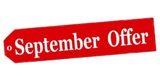 September offer Stock Photography