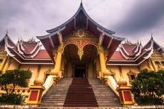26 september, 2014: Paleis in Dat Luang, Vientiane, Laos Stock Foto's
