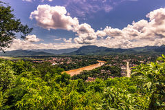 20 september, 2014: Panorama van Luang Prabang, Laos Stock Fotografie