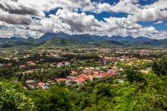 20 september, 2014: Panorama van Luang Prabang, Laos Royalty-vrije Stock Afbeeldingen