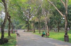 23 September Park Ho Chi Minh City Saigon Vietnam. People visit  23 September Park in Ho Chi Minh City Vietnam Royalty Free Stock Photo