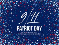 September 11, 2001 Patriot Day background. We Will Never Forget. background. Vector illustration. EPS10 Royalty Free Stock Photography