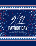 September 11, 2001 Patriot Day background. We Will Never Forget. background. Vector illustration. EPS10 Stock Images