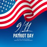 September 11, 2001 Patriot Day background. We Will Never Forget. background. Vector illustration. EPS10 Royalty Free Stock Photo