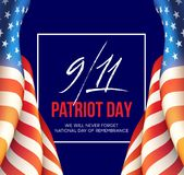 September 11, 2001 Patriot Day background. We Will Never Forget. background. Vector illustration. EPS10 Royalty Free Stock Photos
