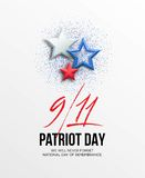 September 11, 2001 Patriot Day background. We Will Never Forget. background. Vector illustration. EPS10 royalty free illustration