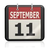 September 11, Patriot Day calendar Royalty Free Stock Photography