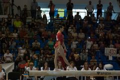 September 2 2017 Ploiesti Romania Woman National Gymnastics. Competition, Larisa Iordache exercise on the balance beam Stock Images