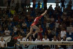 September 2 2017 Ploiesti Romania Woman National Gymnastics. Competition, Larisa Iordache exercise on the balance beam Royalty Free Stock Image