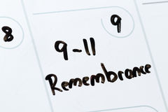 September 11 remebrance Stock Image
