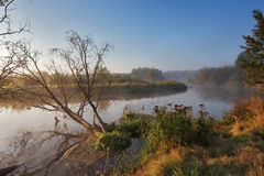 September on the river Neman Stock Photo