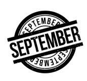 September rubber stämpel Royaltyfria Bilder