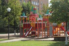 September 2018. Russia. Moscow Oblast. Balashikha. Zeleznodorozhny. Kreml playground. Thanks to the `Big Moscow` subscription for the trip to Zhelesnodorozhny royalty free stock images