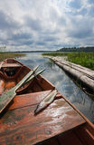 September's Russian lake scenery Stock Image