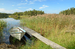 September's Swedish lake scenery Stock Photos