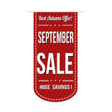 September sale banner design Royalty Free Stock Images