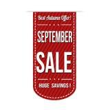 September sale banner design. Over a white background, vector illustration Royalty Free Stock Images