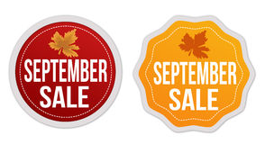 September sale stickers set Royalty Free Stock Images