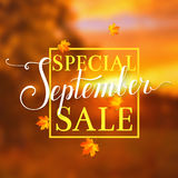 September sale. Vector banner. Royalty Free Stock Image