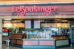 September 9, 2017 San Jose/CA/USA - Storefront of Le Boulanger bakery located at Norman Y. Mineta San Jose International Airport stock photography