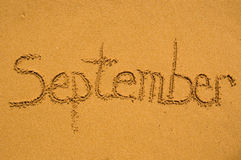 September in the sand. Month September in the sand Royalty Free Stock Photography
