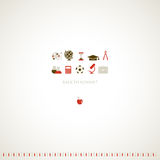 September school background. September school background to the framework composition Royalty Free Stock Photo