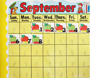 September-Schulekalender Stockbild