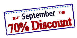 September seventy percent discount Royalty Free Stock Photography